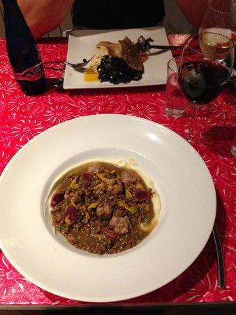 Restaurante Somorrostro : Linsen mit Ente