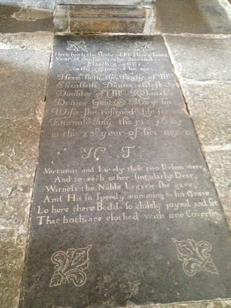 Coughton Court : Middle English, this refers to the couple as very close, even buried under the same coverlet