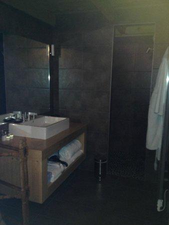 Relais & Chateaux Flocons de Sel : Salle de bain de la suite
