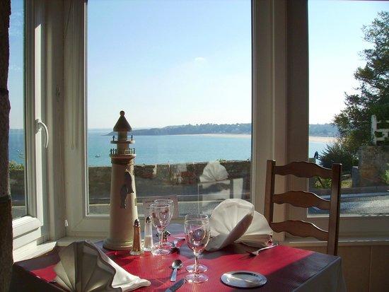 Hotel Restaurant Port Jacquet: Restaurant face à la mer