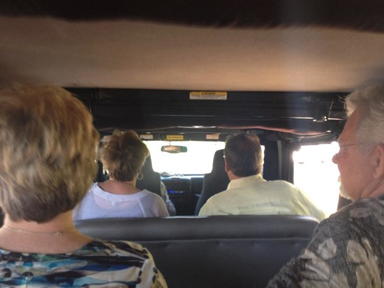 DeeTours of Santa Barbara: Sitting in the very back of the stretch jeep. Such fun !