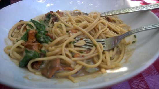 Trading Post Cafe : Shitake and Linguni pasta lunch special