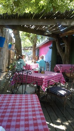 View of the Patio at Trading Post Cafe