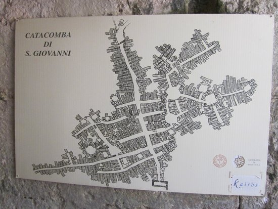 Chiesa di San Giovanni alle Catacombe: Map of the catacombs