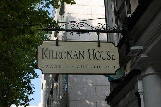 Kilronan House: Front sign