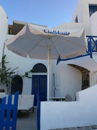 Chelidonia Villas: looking at front door and balcony