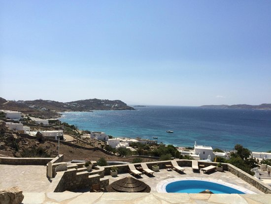 Panthea Residence: View from terrace of apartment 206