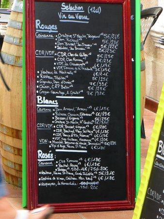 Le Tourne au Verre : Wine by the glass