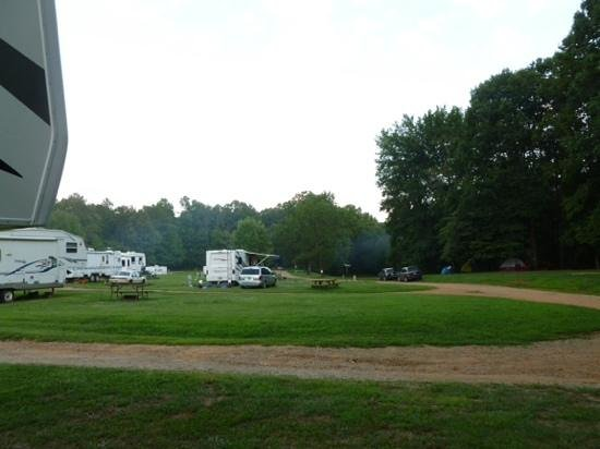Etowah River Campground: campsite 6 view