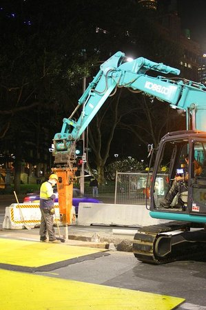 Travelodge Wynyard Sydney: Road works every night:(