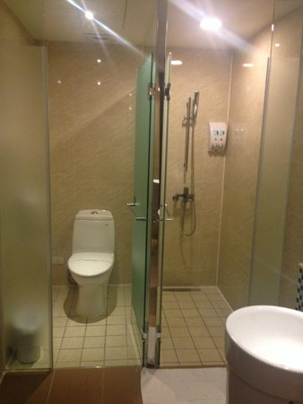 Look Hotel : Separate cubicles for toilet and shower