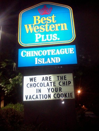 BEST WESTERN Chincoteague Island: They really are the chocolate chip.  Seriously.  You get cookies!