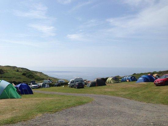 North Morte Farm Caravan & Camping Park : View from North Morte Farm campsite
