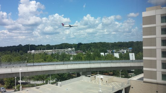 Atlanta Airport Marriott Gateway: view from our window