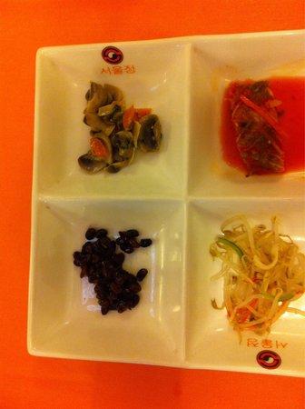 Restaurante Seoul: Entremeses