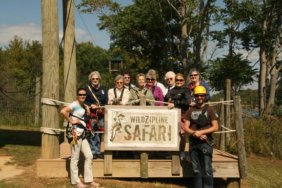 The Wilds : JEM volunteers finish 3 hr zip adventure