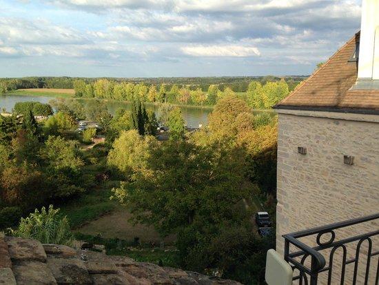 La Tour du Tresorier: River Saône from our room