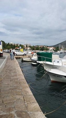 Harbour at the front of the hotel