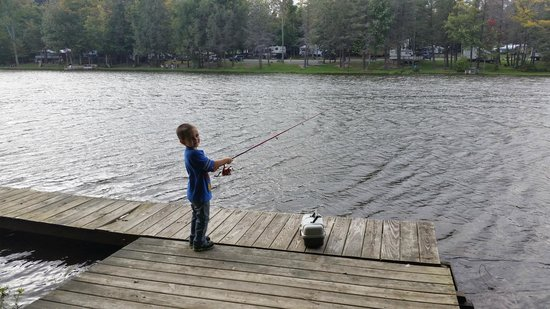 Rome, PA: Private fishing dock