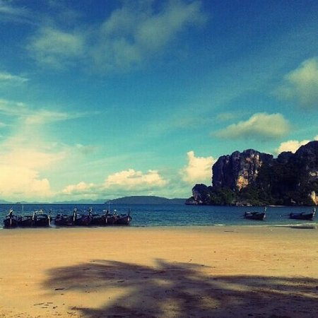 Railay Village Resort : Playa del hotel