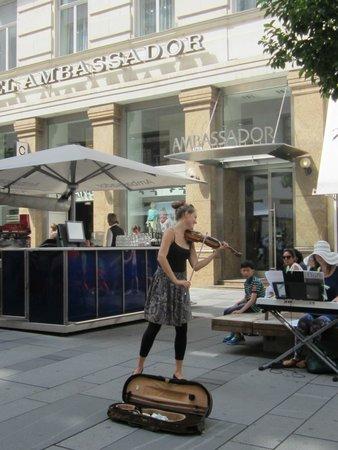 Graben and Kohlmarkt : A música estava fenomenal
