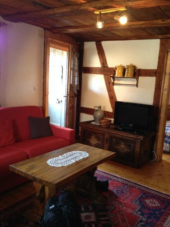Le Gambrinus : Living area. Door leads to private balcony