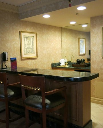 Wet bar area in East Tower Suite - Picture of Luxor Hotel & Casino ...