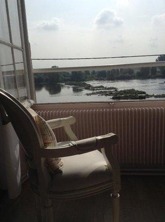 Relais Louis XI - hotel : vue de la chambre sur la loire