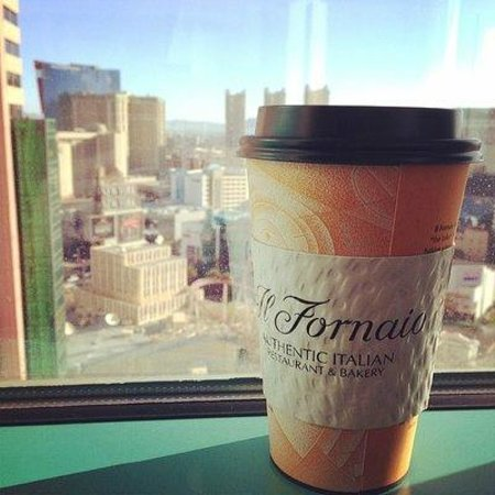 Il Fornaio : Not enough coffee to wake from 5 days in Las Vegas.