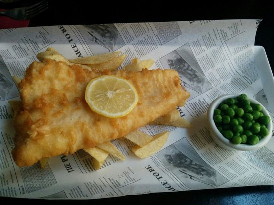 Bar menu picture of the anchor tap london tripadvisor for Anchor fish and chips