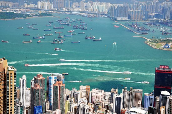 J3 Private Tours Hong Kong: View from Victoria Peak, from Jamie's special viewpoint
