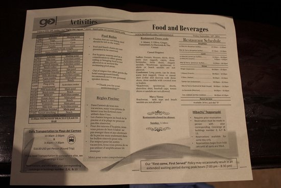 valentin imperial riviera maya sample of daily paper with activities 2