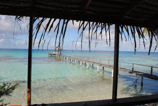Pension Vaiama Village : vue de notre terrasse