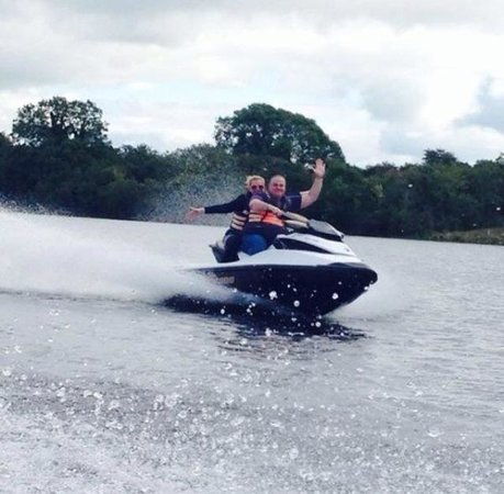 Using one of the jet ski from Tudor Farm :)