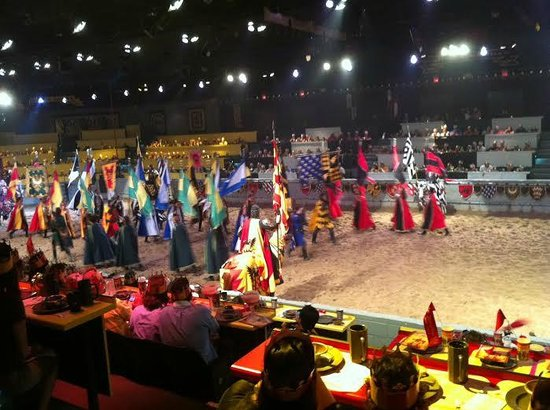 Medieval Times Dinner & Tournament: Parade of Servants, Squires, and Knights