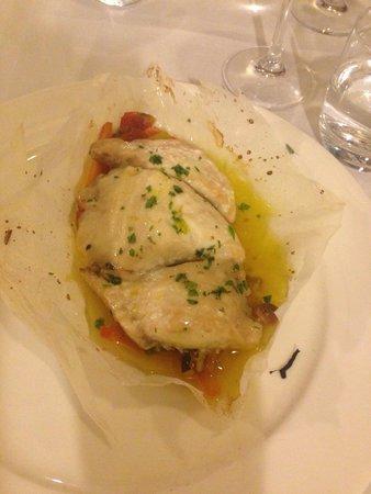 Dal Fritoin: filetto d'orata su verdurine in confit