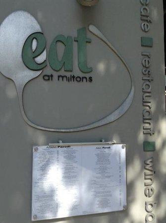 Eat at Milton's: allez y