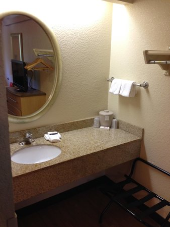 Red Roof Inn Asheville West: Vanity area