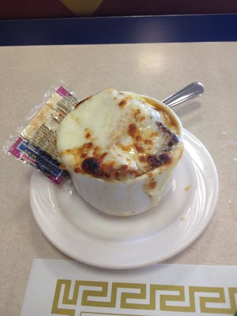 Bus Stop Luncheonette: Best onion soup I've EVER had!