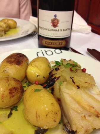 Ribadouro: Cod Loin and lovely wine