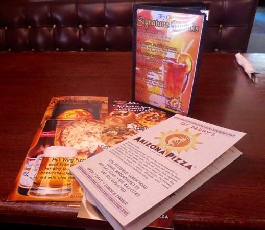 Arizona Pizza Co: Food, drink, and specials menus