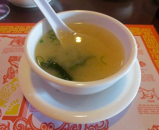 Ginger Garden: Miso soup was warm on a cold day