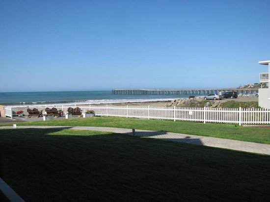 """Cayucos Shoreline Inn...on the beach : The view from the patio of room 104 located in the """"front"""" motel building."""