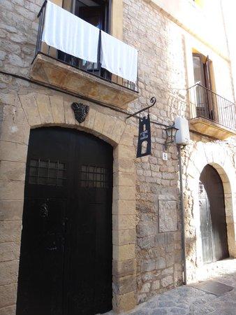 La Torre del Canonigo : la façade sur la rue