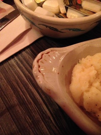 Red's Supper Club: This is the dirty dish our instant mashed potatoes came in. The flies landing on our food loved