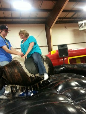 Playland Adventures: Me riding the bull