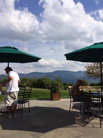 Dining Room at Trapp Family Lodge: the view from the patio