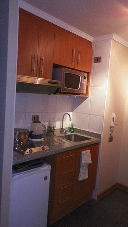 Cozinha Completa no Apartamento Soho Santiago Apart
