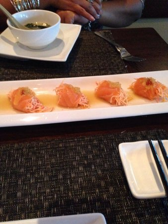 Mt. Fuji Hibachi & Asian Bistro: Salmon wrapped around Crab