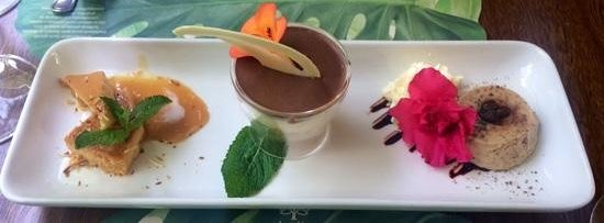 Restaurante In Situ: Chef's selection dessert trio